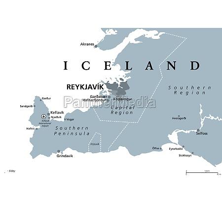 iceland reykjavik capital region and southern