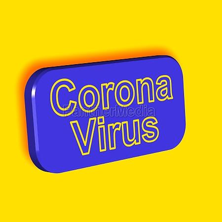 corona virus word or text