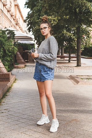 young girl dressed in casual clothes