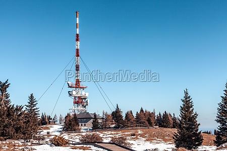 transmitter with satellites and antennas on