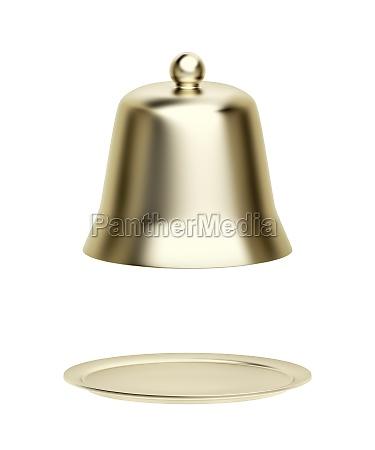empty gold cloche