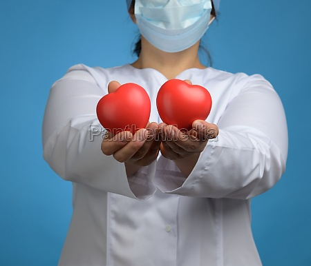 medic in a white coat a