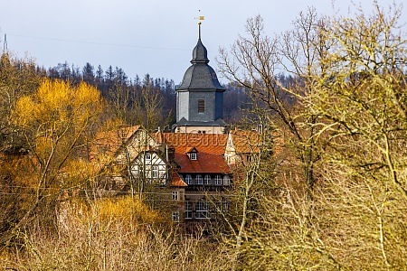 the church and castle of herleshausen