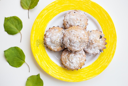 beautiful cakes with powdered sugar on