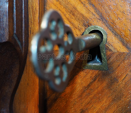 old key in the keyhole
