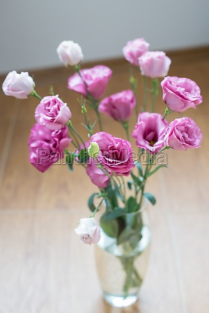 beautiful bouquet of bright pink flowers
