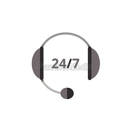 call center headphone 24 7 phone