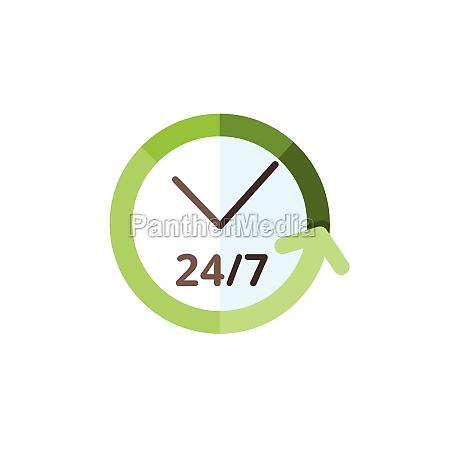 clock 24 7 assistance service flat