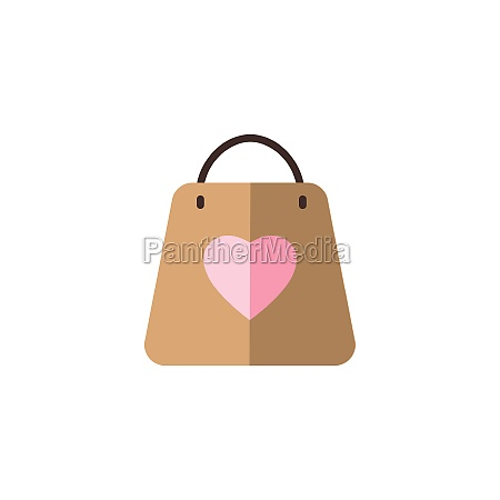 valentine shopping bag with heart love