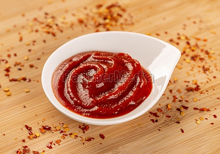 tomato ketchup in a small bowl