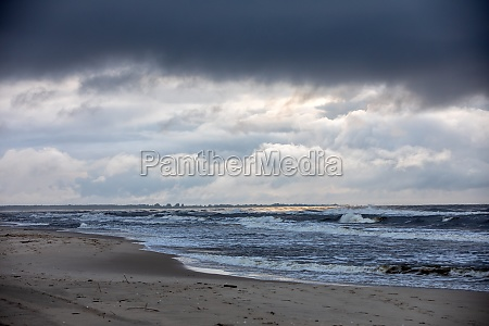 baltic sea on a cloudy and