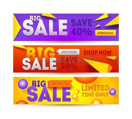 big sale for website banner discount