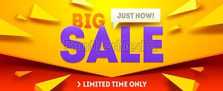 big sale horizontal banner sale and