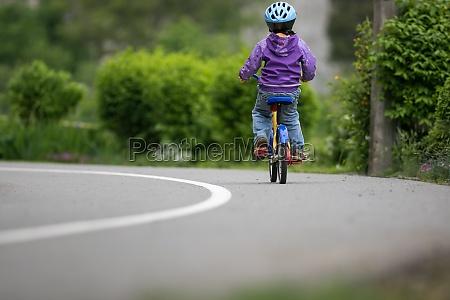 little cyclist on a little bike