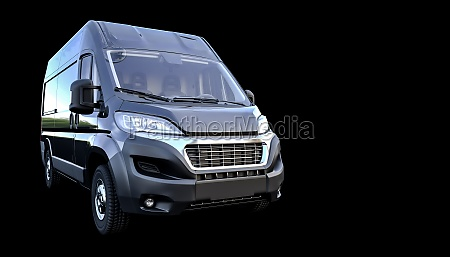 3d render of a van for
