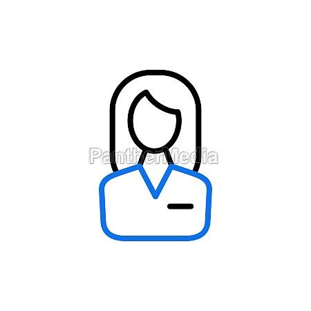 user icon of woman vector icon