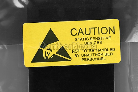 caution static sensitive devices packet