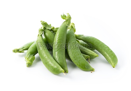snap peas on a white background
