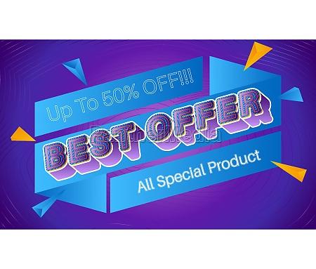 best offer vector banner template
