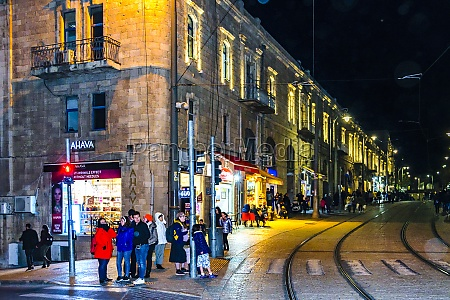 jerusalem city night scene