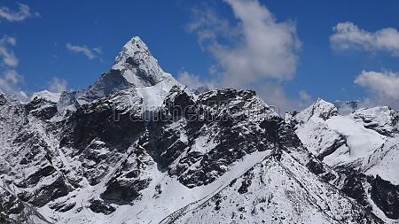 peak of ama dablam view from