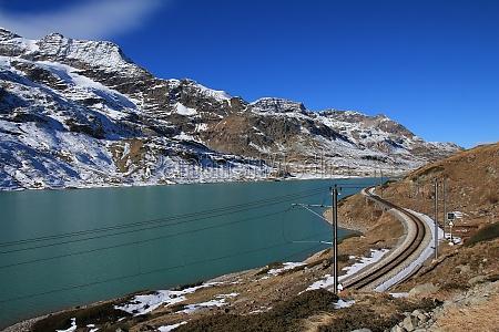 turquoise lake blanc bernina pass