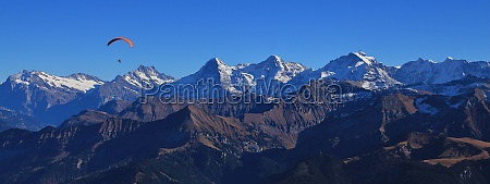 famous mountains eiger monch and jungfrau