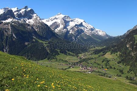 spring in the bernese oberland gsteig
