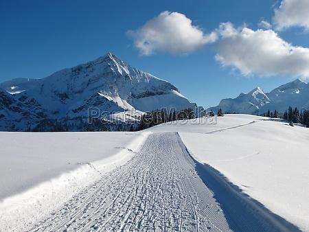 ski slope on the wispile spitzhorn