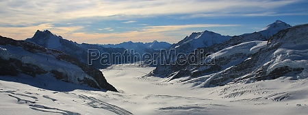 aletsch, glacier, and, high, mountains, , view - 29713495
