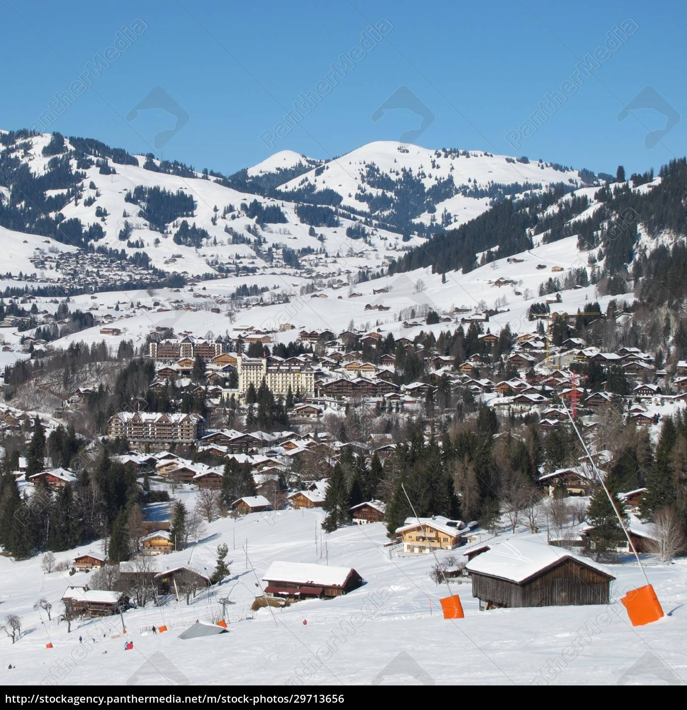 ski, slope, and, view, of, gstaad - 29713656