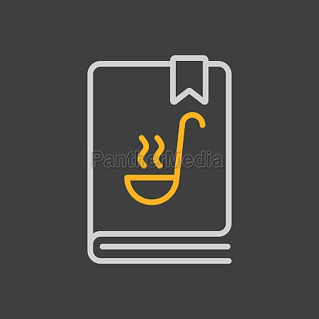 cookbook or cookery book vector icon
