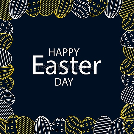 dark easter background with congratulations for