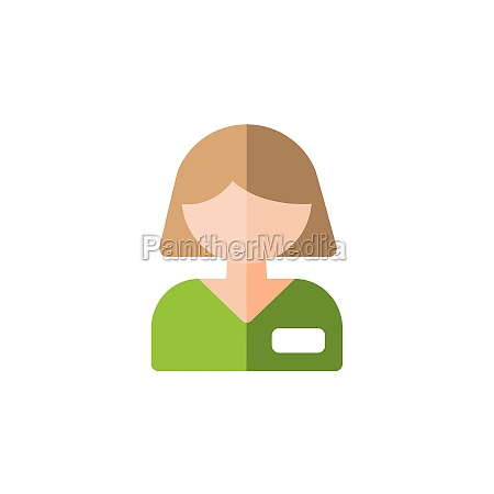 employed people woman working flat color