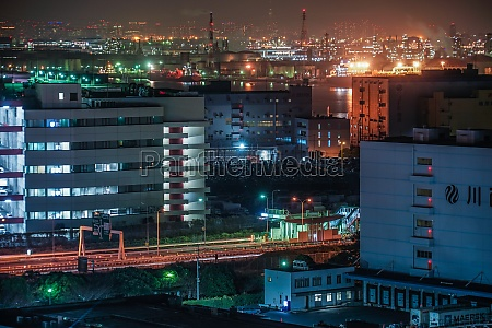 keihin industrial zone which is visible