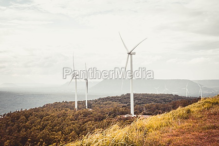 panorama view of wind turbine electrical