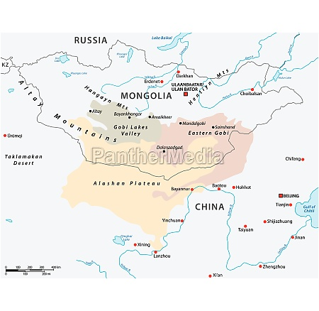 map of the central asian gobi