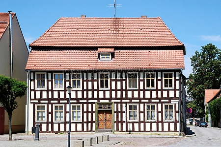 half timbered house in brandenburg