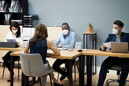 business manager job interview talking