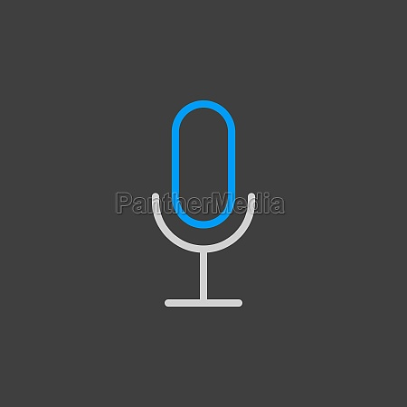 record microphone mic vector icon