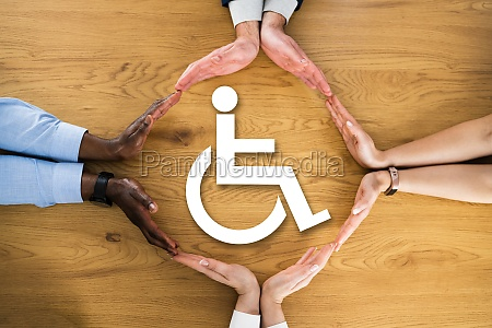 disability person sign
