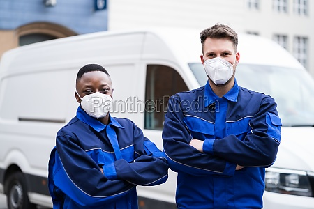 electrician technician or plumber in workwear