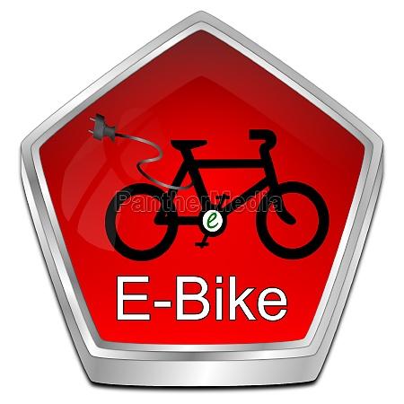 e bike button red 3d