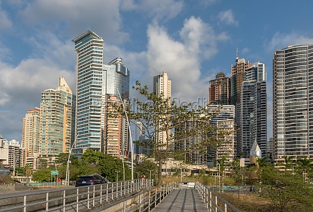 view of the modern skyline of