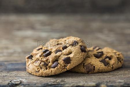 pair of chocolate chip cookies