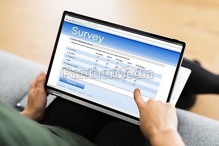 digital online questionnaire