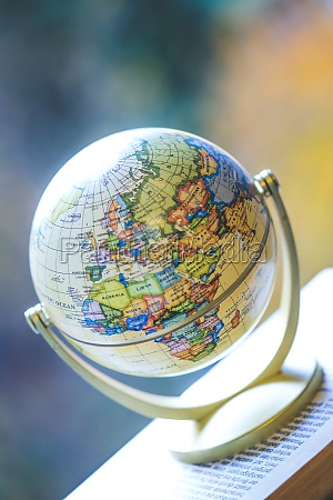 planning the next journey miniature globe