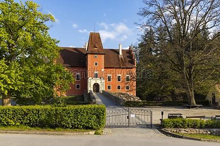 cervena lhota castle in southern bohemia