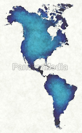 america map with drawn lines and