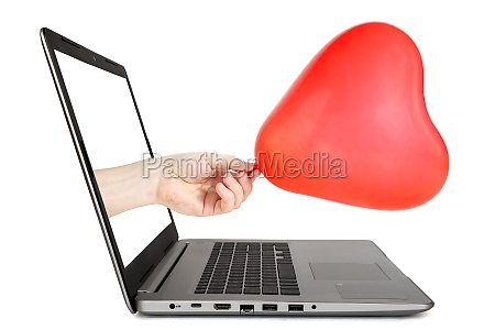 internet dating concept